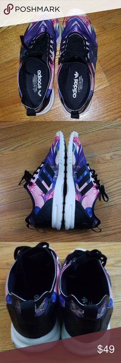 e038bcd5fe Adidas size 9 sneakers ZX Flux w/ floral print Ladies, here's adidas ZX Flux