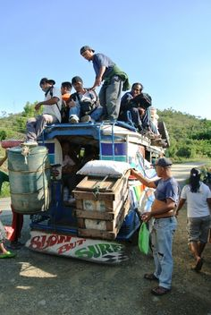 And yes when the jeepney gets full, there's always the roof! It sure isn't safe, but that's the way it is.
