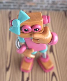 Robot Sculpture Pink Pat Girlie Sassy Gal by RobotsAreAwesome, $40.00