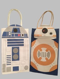 Star Wars R2D2 & BB8 Party Favor Bag Printable, Star Wars Birthday Party Goodie…