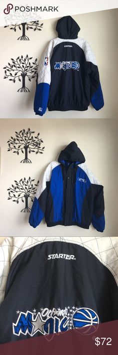 9f9818eb0f7d9 Vintage 90s Orlando Magic Starter Full Zip Jacket Extremely Nice Vintage  90s NBA Orlando Magic Starter