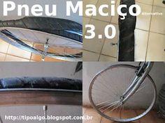 Foto: Pneu Maciço Alternativo versão 3.0 - Ideia de pneu de bicicleta sem câmara…