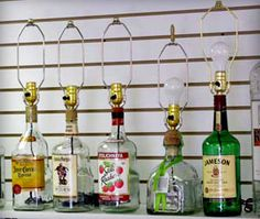 Recycling alcohol bottles