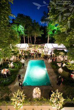 Anna and Spencer Photography, Documentary Buckhead Wedding Photographer. Atlanta outdoor summer backyard wedding reception at night.