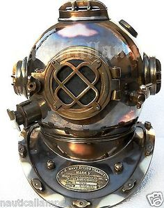 Antique U.S Navy Brass Divers Diving Helmet Mark V FULL SIZE Deep sea Scuba gift - http://scuba.megainfohouse.com/antique-u-s-navy-brass-divers-diving-helmet-mark-v-full-size-deep-sea-scuba-gift/