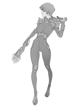 Female Character Design, Character Design Inspiration, Character Concept, Character Art, Concept Art, Reference Manga, Cyberpunk Character, Sci Fi Characters, Cool Animations