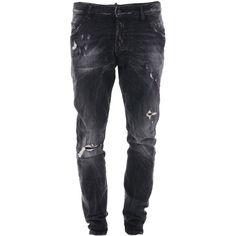 Dsquared2 Trousers ($350) ❤ liked on Polyvore featuring men's fashion, men's clothing, men's pants, men's casual pants, men, menswear, grey, mens gray pants, mens pants and men's 5 pocket pants