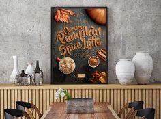 Esquires' Pumpkin Spice Latte - Graphic Design | Abduzeedo