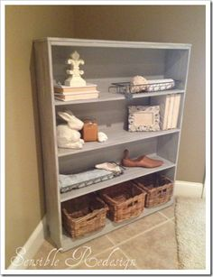 Paris Grey bookcase...maybe for the bathroom?