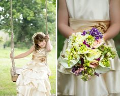 The dress of the little flower girl is gorgeous. Photo by Joise Photography.