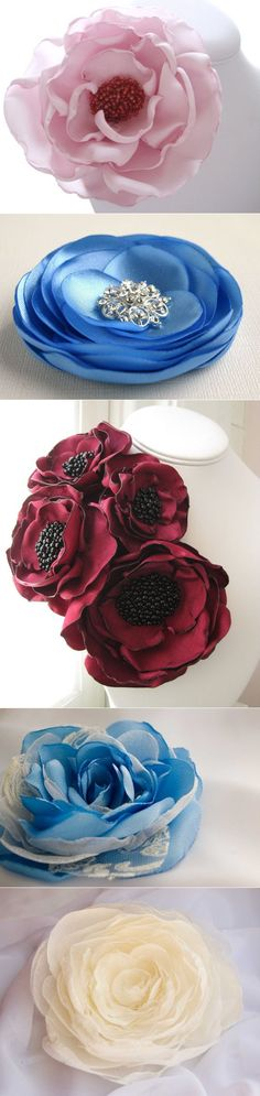 Pandahall provides craft ideas for making handmade jewelries. You can get the amazing craft idea when you buy the materials Cloth Flowers, Satin Flowers, Felt Flowers, Diy Flowers, Fabric Flowers, Paper Flowers, Diy Ribbon, Ribbon Work, Fabric Ribbon