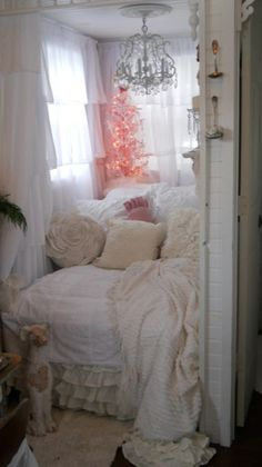 I'm dreaming of a pink Christmas in a tiny house