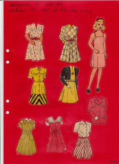 HV 1945 - 1950 | Maggans nostalgiska klippdockor *1500 free paper dolls for Christmas at artist Arielle Gabriels The International Paper Doll Society and also free Asian paper dolls at The China Adventures of Arielle Gabriel *