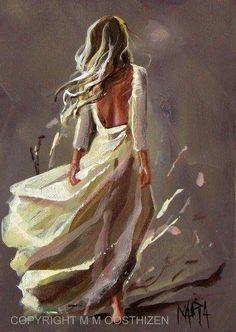 Mysterious Canvas Art Paintings, Painting People, Woman Painting, Painting & Drawing, People Art, Art Sketches, Kinder Art, Beautiful Paintings, Figurative Art