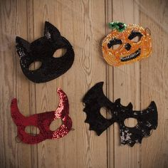 Gisela Graham Halloween Sequin Masks - £4.50 - A great range of Halloween gifts and homewares from The Contemporary Home Online Shop