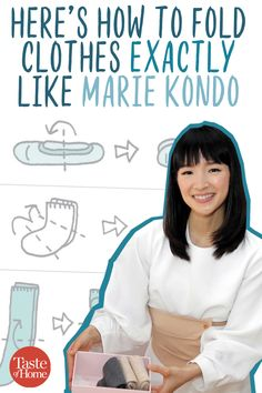 Here's How to Fold Clothes Exactly Like Marie Kondo {KonMari method} Deep Cleaning Tips, House Cleaning Tips, Spring Cleaning, Cleaning Hacks, Organizing Hacks, Home Organization Hacks, Organising Tips, Closet Organisation, Clutter Organization
