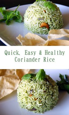 Quick, Easy and healthy Coriander Rice.