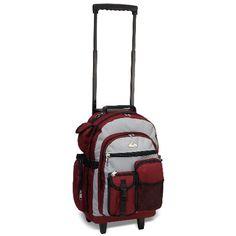 Deluxe Large Wheeled School Backpack   http://www.bonkersforbags.com/everest-deluxe-large-rolling-school-backpack?variantId=1505
