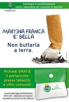 Martina Franca (Taranto) - Porta cicche tascabili da oggi lunedì in distribuzione