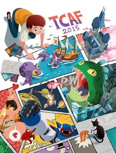 This art is for the TCAF Kids' Day Poster.We are very excited about to join in TCAF 2015!