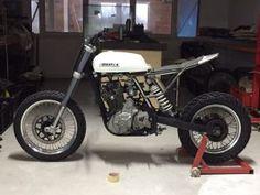 Custom DR650 tracker - TPCustom Flat Track Motorcycle, Tracker Motorcycle, Retro Motorcycle, Moto Bike, Custom Cafe Racer, Cafe Racer Bikes, Cafe Racer Motorcycle, Cafe Racers, Custom Street Bikes