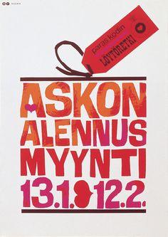 Kodin paras löytöretki, Askon alennus myynti - Askon vanha mainos Finland, Vintage Designs, Furniture Design