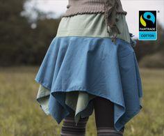 Röcke - Fairtrade Zipfelrock in Moos und Petrol - ein Designerstück von FairTale bei DaWanda