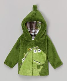 Look at this #zulilyfind! Green Dinosaur Hoodie - Infant & Toddler #zulilyfinds