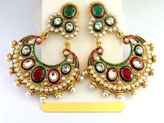 Kundan Bali Earrings. Wholesale trade for Indian Jewelry and Accessories.