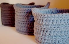 Hi guys! As a Christmas gift, I am working on some nesting baskets based on the pattern provided by Liz at Crochet in Color. You can find he...