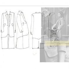 Fashion Portfolio layout - jacket design drawings; fashion sketchbook // Faiza Matovu