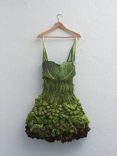 Vestido de vegetais. Quem usaria?