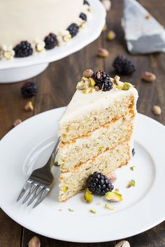 Welcome the spring with this delightful made-from-scratch 3-layer pistachio cake covered in silky smooth cream cheese frosting.