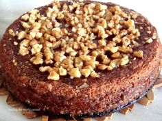 Surfing the world cuisine: Greek Walnut Cake - Karythopitta Greek Sweets, Greek Desserts, Vegan Desserts, Easy Desserts, Greek Recipes, Vegan Food, Pureed Food Recipes, Sweets Recipes, Cake Recipes
