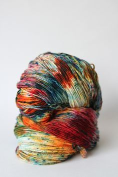 Stimpylab & Serape - Dyed to Order someone said yarn porn. Knitting Yarn, Crochet Yarn, Knitting Patterns, Yarn Stash, Yarn Thread, Textiles, Yarn Inspiration, Spinning Yarn, Art Textile