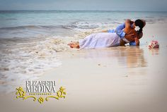 I'm NOT trashing my wedding dress, but this is such a romantic photo idea for our honeymoon!