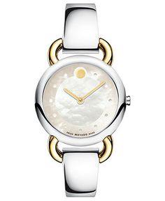 Movado Watch, Women's Swiss Linio Two Tone Stainless Steel Bracelet 30mm 606552 - Women's Watches - Jewelry & Watches - Macy's