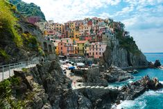 terre the sun the stones built structure building exterior rock - object residential district rock formation cloud - sky incidental people Building Exterior, Building Building, Rock Formations, Cinque Terre, Nature Images, New York Skyline, Tourism, Sun Holidays, Clouds