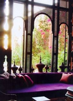 Arabic window decor / Moroccan . Purple