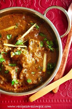 Nihari – Delicious Slow Cooked Meat Curry Nihari is a delicious, slow cooked meat curry made of Mutton, Beef and sometimes even Chicken. The word Nihari '?' is derived from t… (eid recipes pakistani) Lamb Recipes, Veg Recipes, Spicy Recipes, Curry Recipes, Slow Cooker Recipes, Indian Food Recipes, Asian Recipes, Chicken Recipes, Cooking Recipes