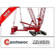 Manitowoc MLC650 Lattice Boom Crawler Crane with VPC  1:50 Scale Model By Towsleys TOS007 Diecast Metal - Amazing Quality & Detail Assembly manual included