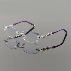 bb313e65ad Titanium Alloy Eyeglasses Women Rimless Prescription Reading Myopia. Korean  GlassesWomen s OpticalOptical FramesEye ...