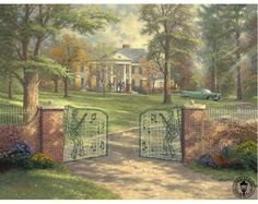 """Graceland"" by Thomas Kinkade 6/7/15"