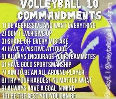 Volleyball commandments