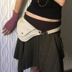 Cream Cotton Rip Stop Belt Bag  Fanny Pack by rocksandsalt on Etsy,