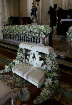 White and green l'altare nuziale di gran classe