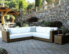 Patio Wicker Sectional with Class & Luxury via @wickerparadise #patio #wicker #sectional #outdoor www.wickerparadise.com