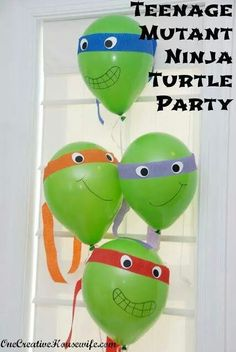 Ninja turtle party idea. Wish I found this last month!