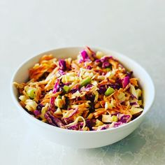 This amazing colourful coleslaw will have everyone begging for more. With a massive hit of liver cleansing antioxidant veges, packed with nutrient dense wholefoods, this slaw is a totally winning side dish or main event! Mama Recipe, Healthy Family Meals, Base Foods, Coleslaw, Healthy Salads, Plant Based Recipes, Whole Food Recipes, Side Dishes, Tasty