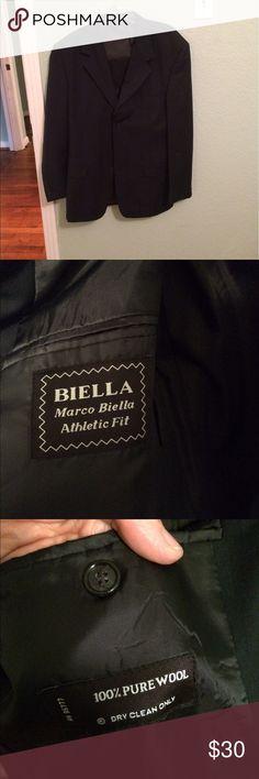 Marco Biella Navy Blazer 42 Slim Gently worn slim cut navy blazer. Size 42. Marco Biella Suits & Blazers Sport Coats & Blazers